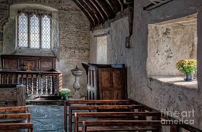 Bass Digital Art - Celynnin Church V2 by Adrian Evans