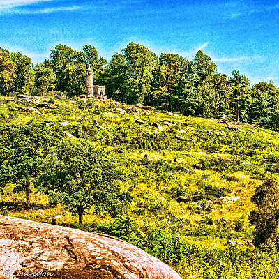 Cemetary Ridge Gettysburg Battleground Print by Bob and Nadine Johnston