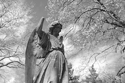 Archangel Photograph - Cemetery Angel by Jennifer Ancker