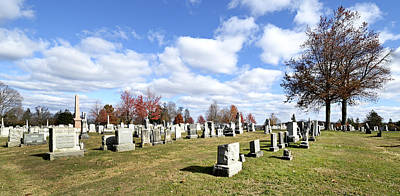 Civil War Battle Site Photograph - Cemetery At Gettysburg National Battlefield by Brendan Reals