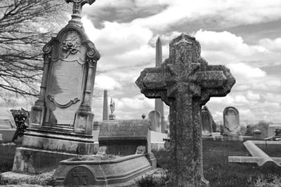 Headstones Photograph - Cemetery Graves by Jennifer Ancker