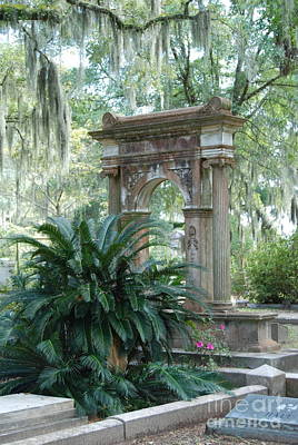 Cemetery  Print by Kathy Gibbons