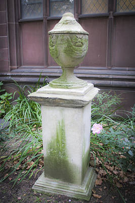 Aged Patina Photograph - Cemetery Urn 2 by Teresa Mucha
