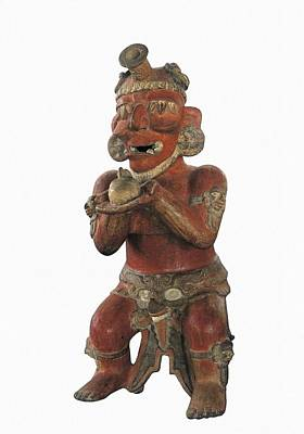 Precolumbian Photograph - Censer. Representation Of The God by Everett