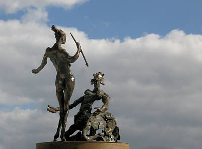 Centaur And Amazon Original by Spartak Dermendjiev