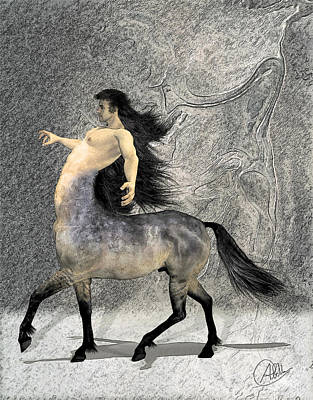 Centaur Drawing - Centaur by Quim Abella