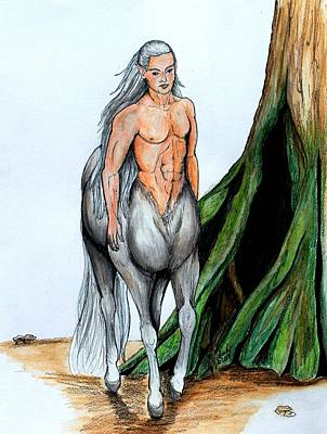 Centaur Mixed Media - Centaur by Lorah Buchanan