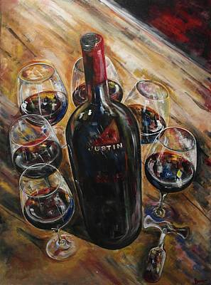 Winery Painting - Center Of Attention by John Barth