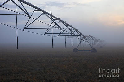 Irrigation Photograph - Center-pivot Irrigation by Mike  Dawson