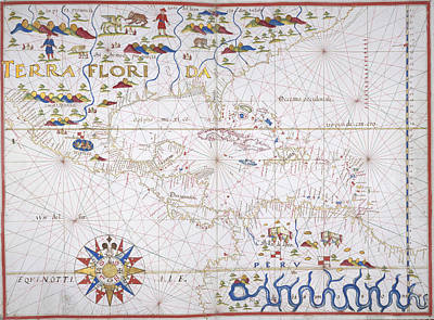 Central America And West Indies Print by British Library