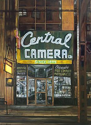 Central Camera At Night Print by Christopher Buoscio