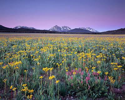 Sawtooth Photograph - Central Idaho Color by Leland D Howard