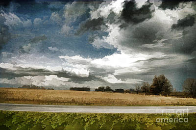 Midwest - Central Illinois Tornados - Luther Fine Art Print by Luther   Fine Art