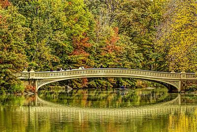 Row Boat Digital Art - Central Park Fall Scenic by Geraldine Scull