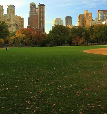 Central Park In Autumn Print by Dan Sproul