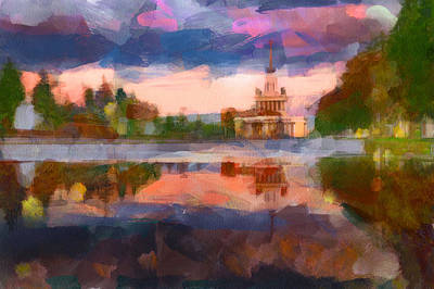 Old Town Digital Art - Central Park In Moscow by Yury Malkov