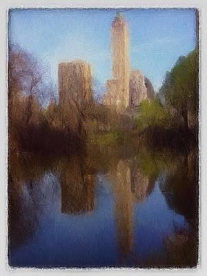 Central Park New York Print by Stefan Kuhn