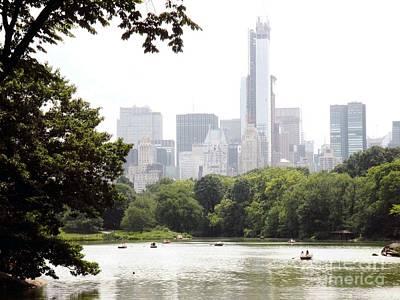Central Park Pond Print by Robert Daniels