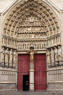 Religious Art Photograph - Central West Portal by Aidan Moran