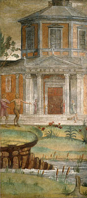 Temple Painting - Cephalus And Pan At The Temple Of Diana by Bernardino Luini