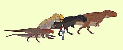 Extinct Reptile Photograph - Ceratosaurus Size Comparison by Nemo Ramjet