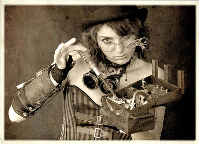 Steampunk Photograph - Certain Improving Modifications Were Required For The Device To Meet Her E by Evan Butterfield