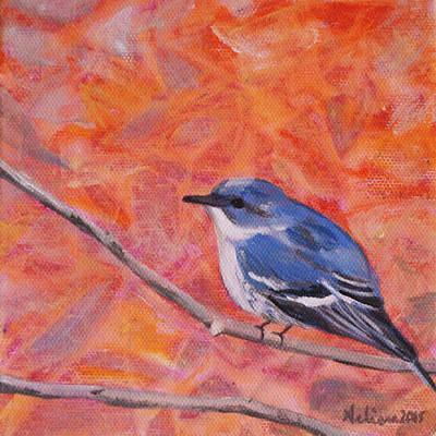Cerulean Warbler - Birds In The Wild Original by Arlissa Vaughn