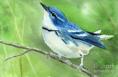 Cerulean Warbler Original by Lynn Quinn