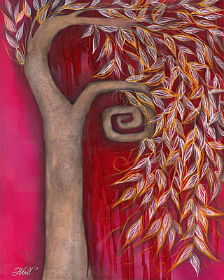 Fantasy Tree Art Painting - Cerys by  Abril Andrade Griffith