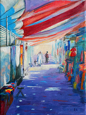 Morning Light Painting - Cesarean Souq by Amani Al Hajeri