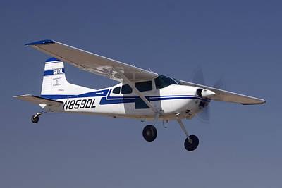 Cessna A185f N859dl Casa Grande March 3 2012 Print by Brian Lockett
