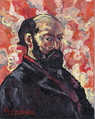 Artist Self Portrait Painting - Cezanne by Tom Roderick