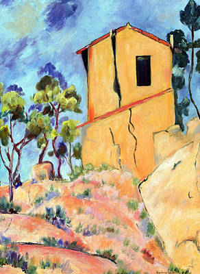 Cezanne's House With Cracked Walls Print by Jamie Frier