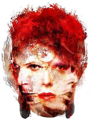 Ch Ch Changes David Bowie Portrait Print by Czar Catstick