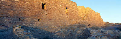 Old West .america Photograph - Chaco Canyon Indian Ruins, Sunset, New by Panoramic Images