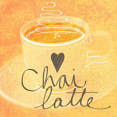 Peach Mixed Media - Chai Latte Love by Linda Woods