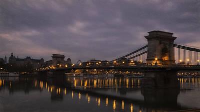 Portal Photograph - Chain Bridge Dawn by Joan Carroll