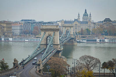 Arial View Photograph - Chain Bridge by Devan M