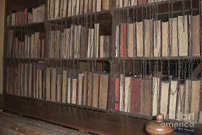 Great Britain Photograph - Chained Library At Hereford Cathedral by Deborah Smolinske