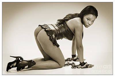 Nude Photograph - Chained Nude African Woman 1011.01 by Kendree Miller