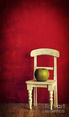 Chair Apple Red Still Life Print by Edward Fielding