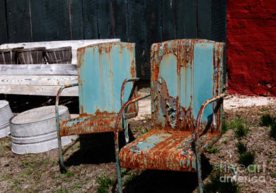 Primitive Photograph - Chair Blossoms  by Steven  Digman