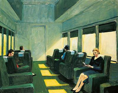 Train Painting - Chair Car by Edward Hopper
