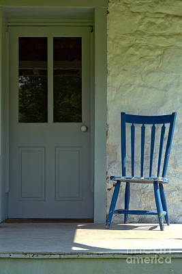 Porches Photograph - Chair On Farmhouse Porch by Olivier Le Queinec