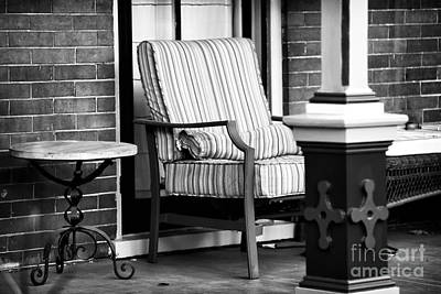 Chair On The Porch Print by John Rizzuto