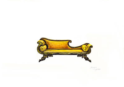 Chaise  Print by Jazmin Angeles