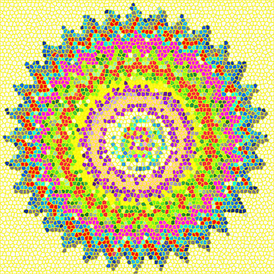Healing Painting - Chakra Art Meditation Mandala Stained Glass Patterns  Reiki Karuna Healing Master Created Decoration by Navin Joshi