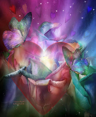Chakras Mixed Media - Chakra Heart by Carol Cavalaris