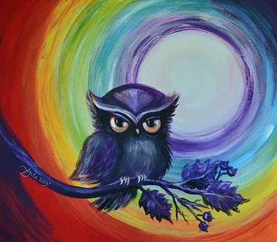 Chakra Meditation With Owl Original by Agata Lindquist