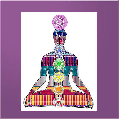 Social Issues Painting - Chakra Yoga Meditation Buy Faa Print Products Or Down Load For Self Printing Navin Joshi Rights Mana by Navin Joshi